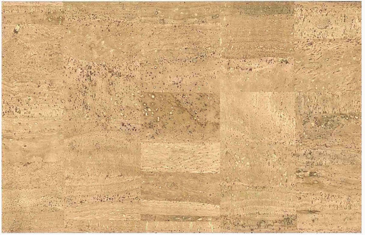 Beige Cork Wallpaper with Metallic Gold Tones
