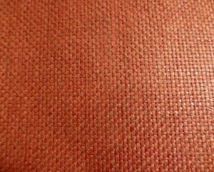 Waverly Brick Red Grasscloth Wallpaper with Basketweave Pattern