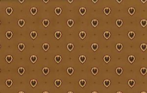 Waverly Arts Crafts Vintage Wallpaper in Cocoa Brown, Cream, & Cranberry