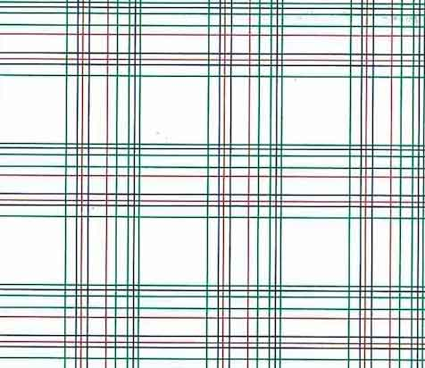 Vintage Green Red Plaid Wallpaper Blue White Narrow Lines BY1382