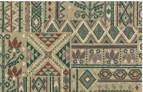 Vintage Southwestern Wallpaper in a Geometric Collage Pattern