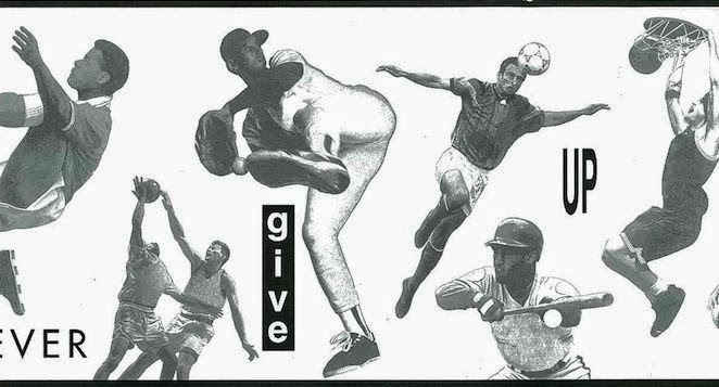 Vintage Sports Themed Wallpaper Border Pattern