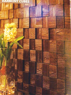 Wood Cube Wallcoverings